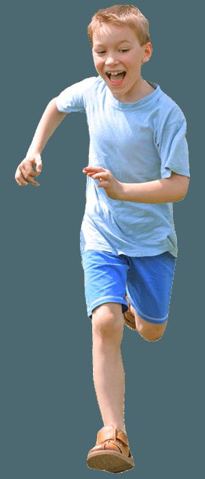 rennend kind